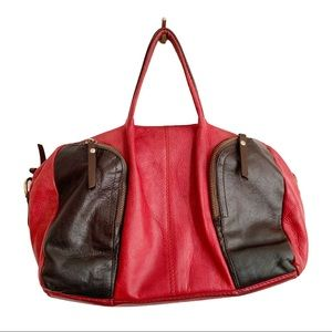 Vtg The Trend Leather Handbag Made in Italy